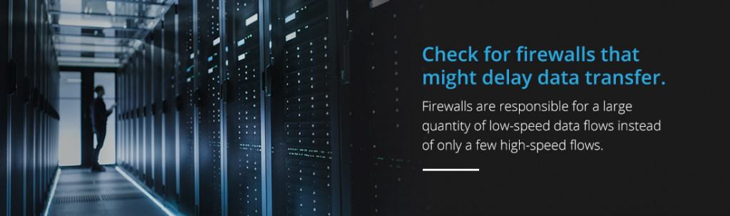 check for firewalls