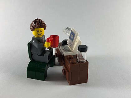 Business man coffee work computer smooth migrations